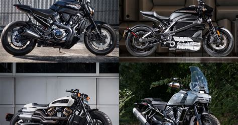 New Harley Davidson Motorcycles by Harley Davidson Announces Four Completely New Motorcycles