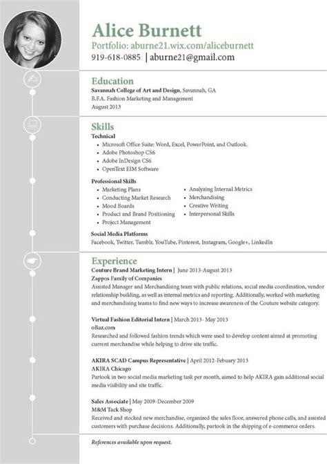 burnett home page fashion marketing resume and marketing