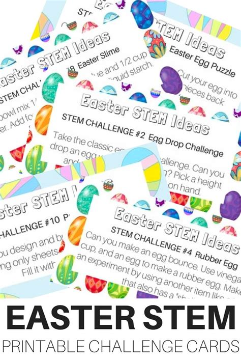 printable science games easter stem challenge cards and science ideas free printable