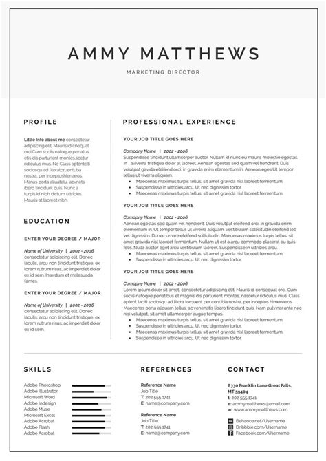 Cv Outline Template by 62 Best Professional Resume Templates Images On