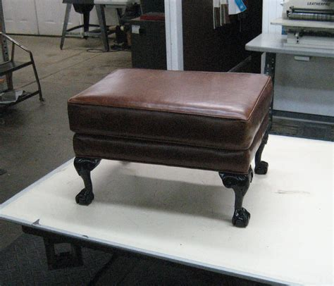 how to refurbish an ottoman ottoman reupholstery and repair upholstery shop