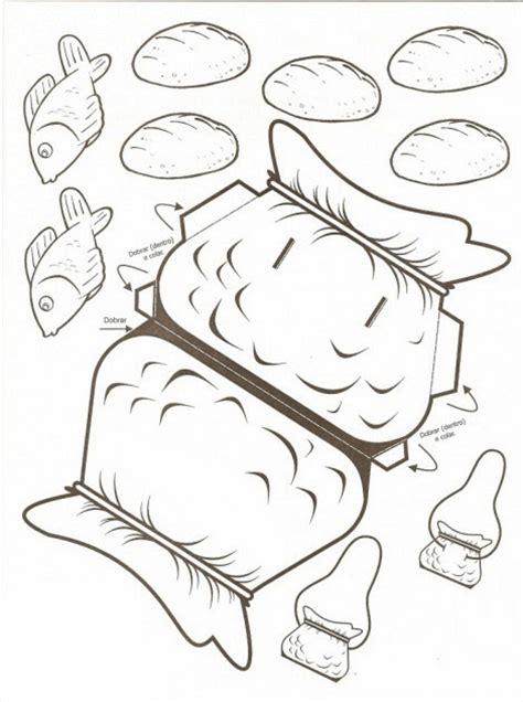 coloring page five loaves two fish imagenes cristianas para colorear dibujos para colorear