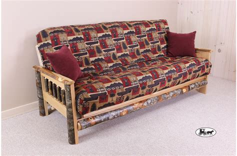 Rustic Futons by Amish Adirondack Style Futons Sofas And Seats