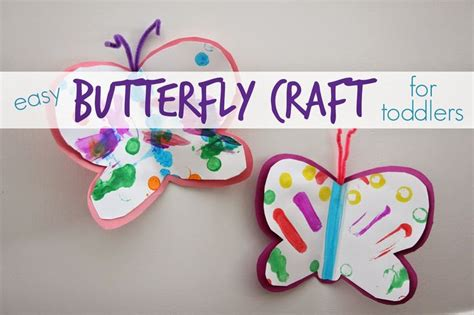 arts craft projects toddlers easy butterfly craft for toddlers crafts a and