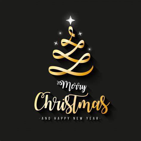 elegante merry christmas banner met gouden lint vector gratis