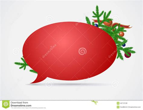 christmas speech bubble stock vector image 45712128