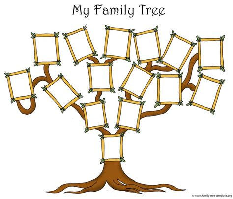 south hill design family tree original free family tree template with picure frames for
