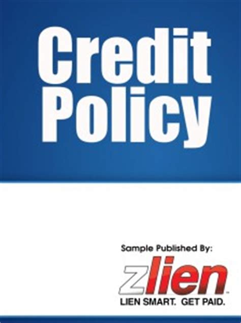 credit policy templates and forms