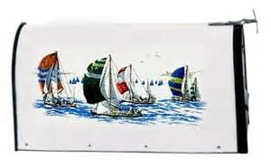 Decorating Style Sailboats Mailbox Cover Florida Decorating Pinterest