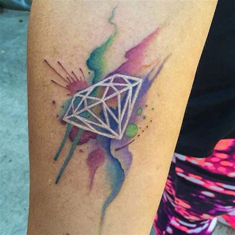 watercolor tattoo diamond by nrkreate nrkreate hawthorneink