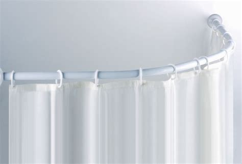 Half Round Shower Curtain Rod John Pinterest Curtain