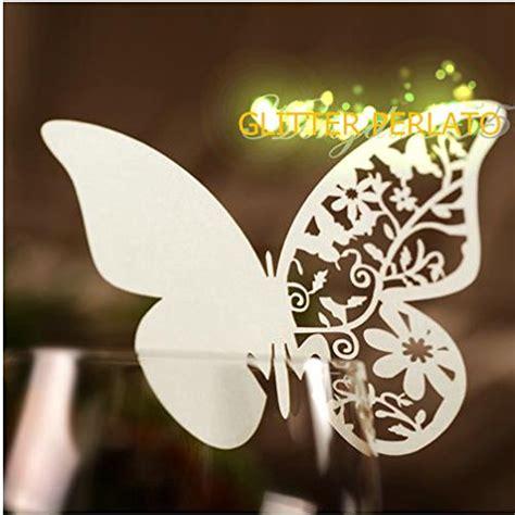 farfalle segnaposto per bicchieri 100 farfalle segnaposto segna bicchiere perlata