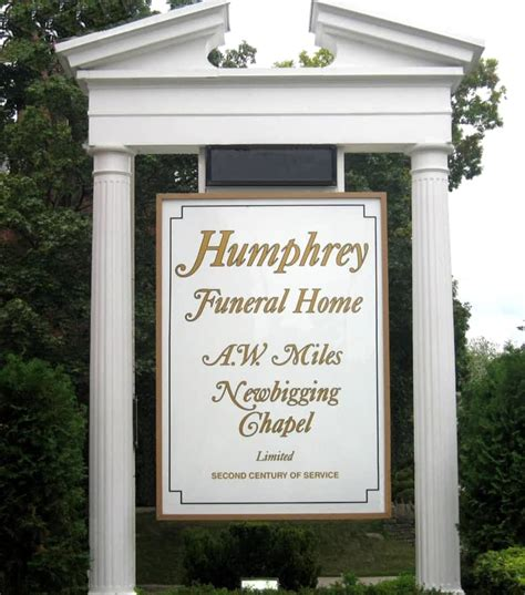 humphrey funeral home a w newbigging chapel limited