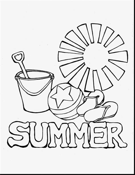 Summertime Coloring Pages Printable Coloringsuite Com Coloring Pictures About