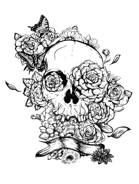 skull coloring pages for adults coloring pages for adults skull printable