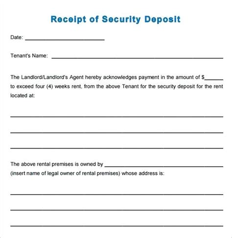 holding deposit receipt template uk receipt for deposit template yagoa me