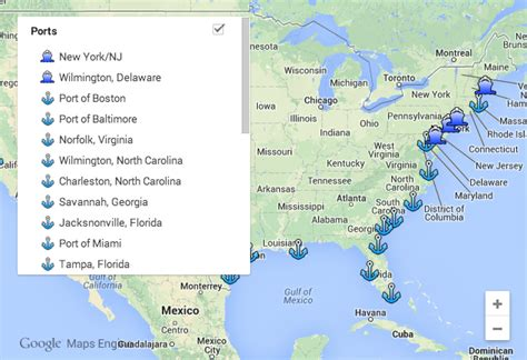 map of united states and surrounding oceans ports of the united states cleared and delivered