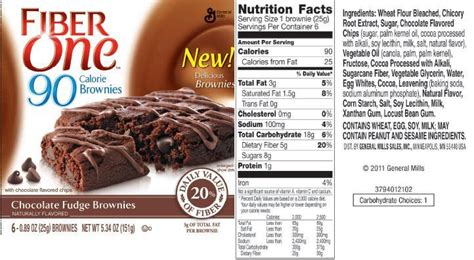 Calories For A Cause Think Pink Fudge by The Lie That Is Fiber One Food Lies