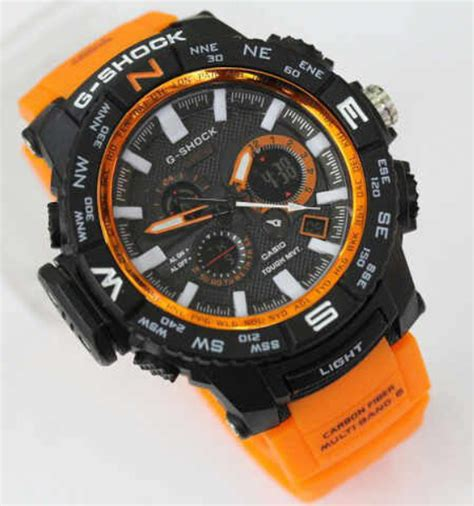 Reddington R8034 Silver Black Orange jam tangan g shock mtg1000 dualtime orange