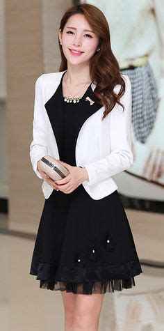 Mee2 Dress Jacket Set 2in1 yrb black and white on dresses
