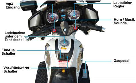 Motorrad Schalten Video by 12v Polizei Elektro Motorrad Kindermotorrad Roller
