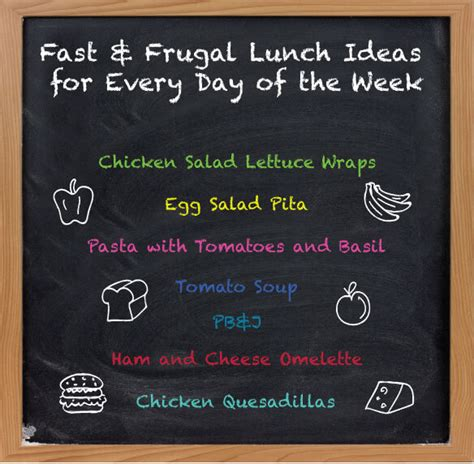 pound place fast and frugal lunch ideas for every day of
