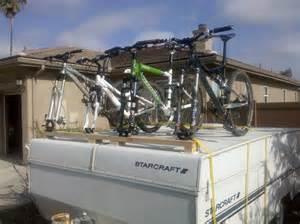 bike rack pop up cer thread diy bike rack for pop
