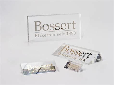 Etiketten Drucken Pforzheim by Logo Aufsteller Bossert Gmbh