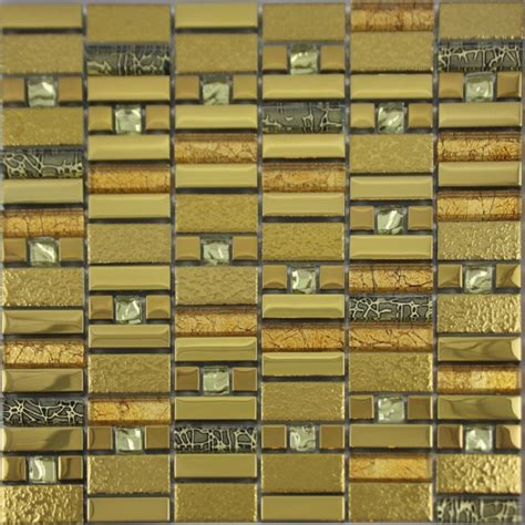 gold glass tile backsplash gold plated glass mosaic tile glass tile