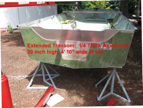 boat transom weight aluminum utility question would this be too much weight