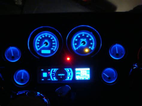 Lu Led Motor New Megapro finally done stereo blue gauges and painted fairind