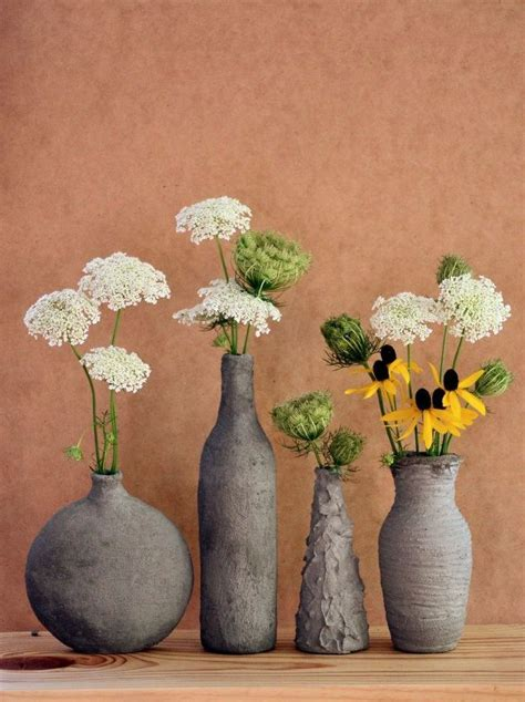 cement home decor ideas easy diy decor hand formed cement over glass vases