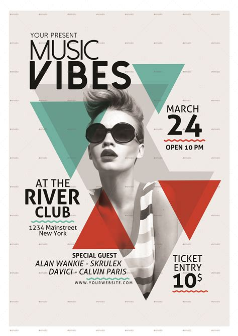 Minimal Music Flyer Template By Muhamadiqbalhiday With Indie Music Flyer Event Flyers And Musi Best Templates For Musicians