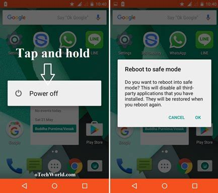 safe mode android phone how to restart android phone in safe mode otechworld