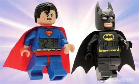 Kaos Lego Graphic 06 Superman finally keep gotham and metropolis local times with these batman and superman lego clocks