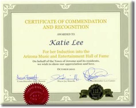 certificate of commendation template sle of certificate recognition log in