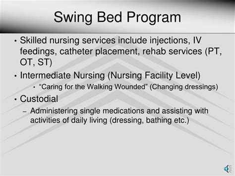 swing bed program ppt rural health clinic powerpoint presentation id 2807619