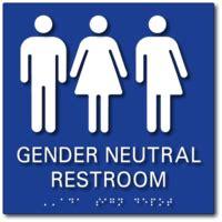 Gender Neutral Bathrooms - gender neutral bathroom signs ada restroom signs adasigndepot com