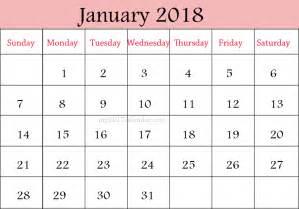 Calendar 2018 January And February January 2018 Calendar February 2018 Calendar Printable