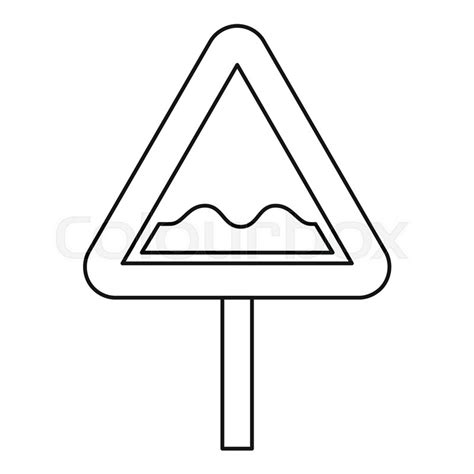 Road Sign Outlines by Uneven Road Sign Icon Outline Illustration Of Uneven Road Sign Vector Icon For Web Stock