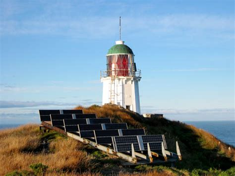 Solar Powered Lighthouse Foveaux Strait Wind And Solar Light House Solar