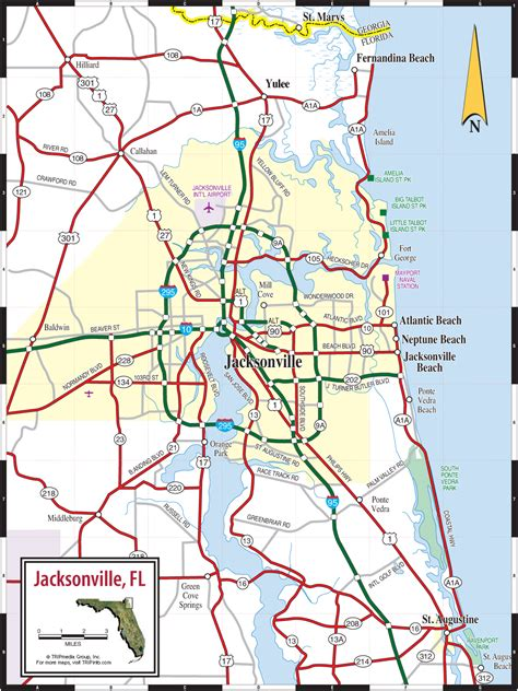 jacksonville fl map jacksonville northeast florida map
