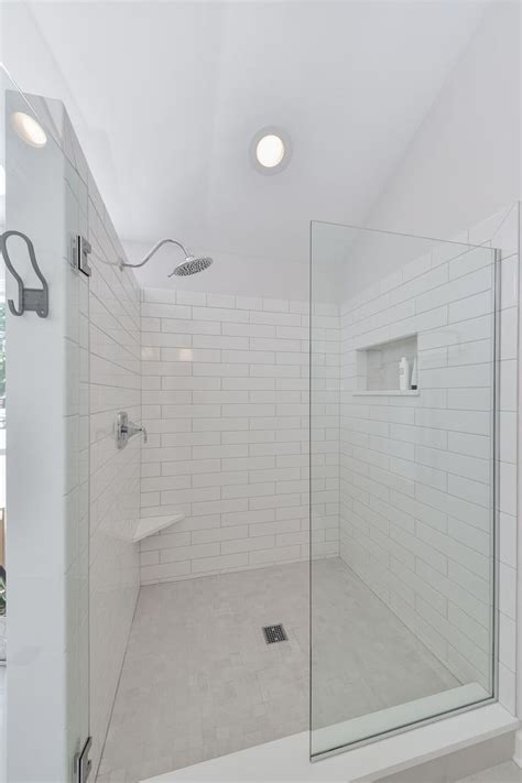 monochromatic gray mosaic subway tiles shower space wall 17 best images about my india on pinterest arches