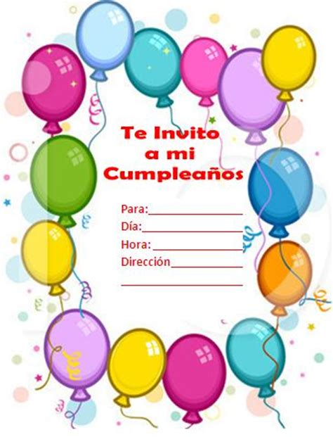 para imprimir de invitacion a fiestas de cumpleanos infantiles view invitaciones de cumplea 241 os tarjetas de invitaci 243 n a