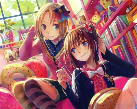 anime as best friends forever friends wallpaper free anime