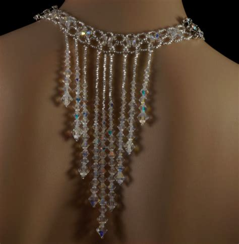 Wedding Backdrop With Crystals by Swarovski Beaded Wedding Backdrop Necklace Aftcra
