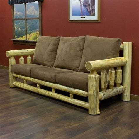 log couches cedar lake cabin log sofa fantasy lake home pinterest