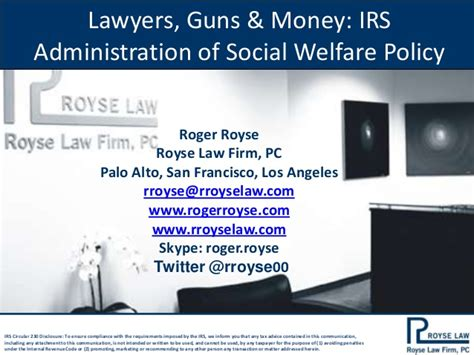 aba tax section lawyers guns and money a preview of my presentation to