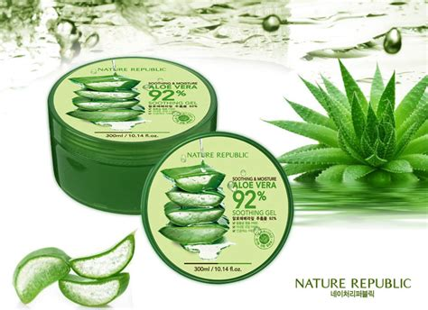 Nature Republic Aloe Vera Soothing Gel Daily nature republic korea soothing moisture aloe vera 92