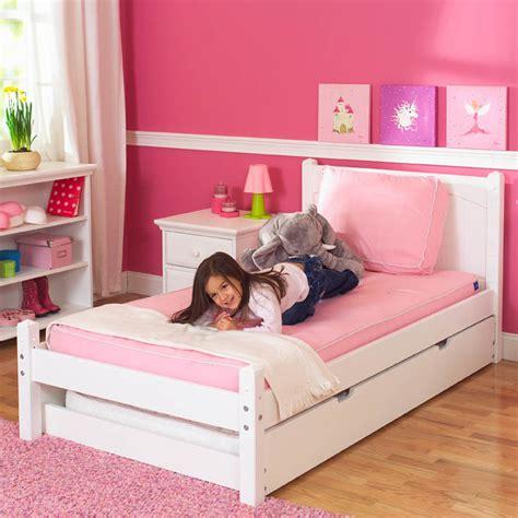 kids platform beds white platform bed by maxtrix kids shown w trundle bed